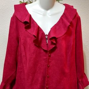 Flirty Red Avenue Blouse Size 18/20